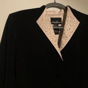 Positive Attitude Beaded Collar Blazer